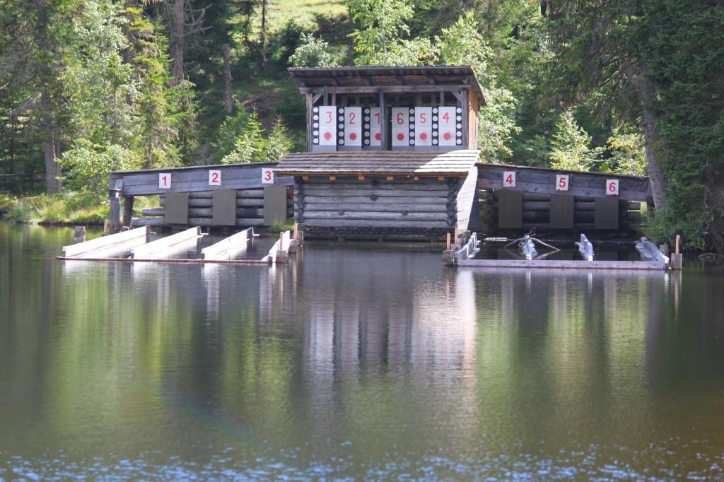 Wasserscheiben-Schießen am Prebersee